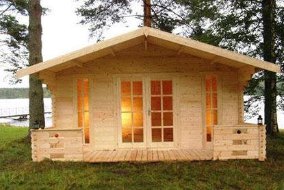 Строительство дачи из дерева